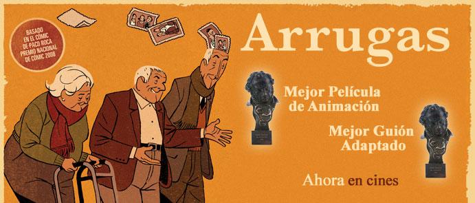 ARRUGAS nominada como Mejor Película de Animación por el CEC