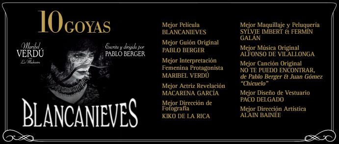 BLANCANIEVES sube un 500% tras arrasar en los Goya